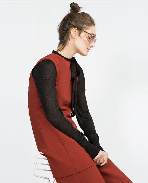 Image 3 de ROBE FORME TRAPÈZE de Zara