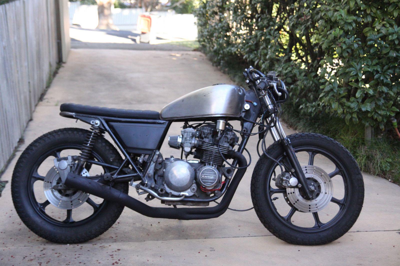 1980 81 kawasaki kz z500 motorbike bobber tracker cafe racer