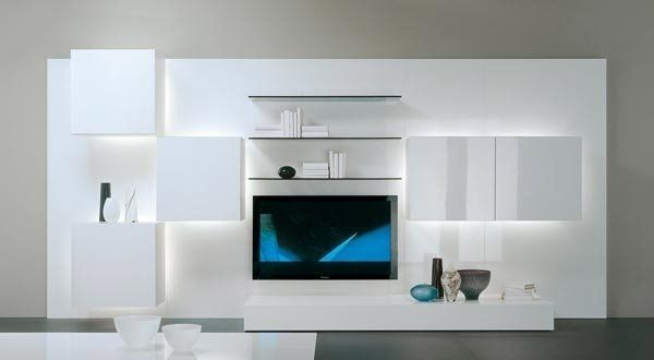 Minimalist Tv Cabinet Contemporary Living Room White Furniture Gray Wall Color Tv Wall Unit Modern Tv Unit Designs Modern Tv Units