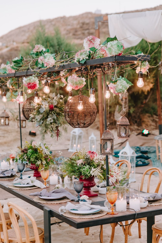 Modern Moroccan Inspired Beach Wedding | Geometric wedding ...