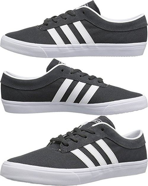 Adidas Skateboarding Men's Sellwood Dark Grey Heather Solid Grey/White/Dark Grey Heather Solid Grey Sneaker 6 D (M)