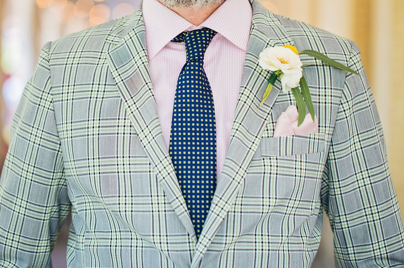 Fun + Colorful Vintage 60s Wedding in New Orleans | Plaid suit ...