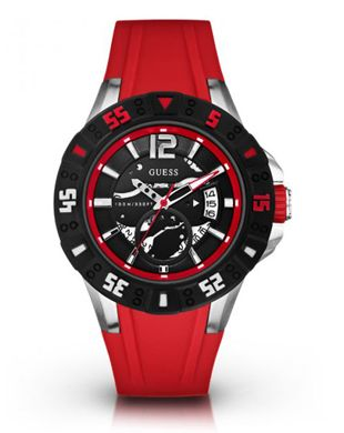 9f484e8ede01 Stylish Guess Magnum Black Red Sports Watch