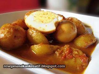 Resep Semur Telur Kentang Resep Masakan Memasak Resep