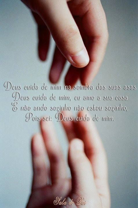 Deus Cuida De Mim Na Sombra Das Suas Asas Deus Cuida De Mim
