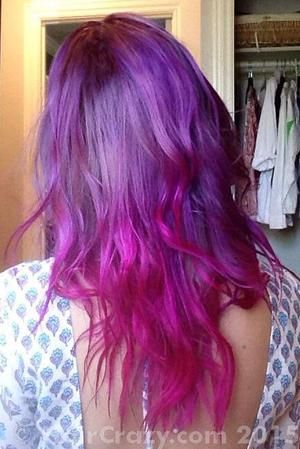 Manic Panic Purple Haze Mixed With A Bit Of Hot Hot Pink Diluted