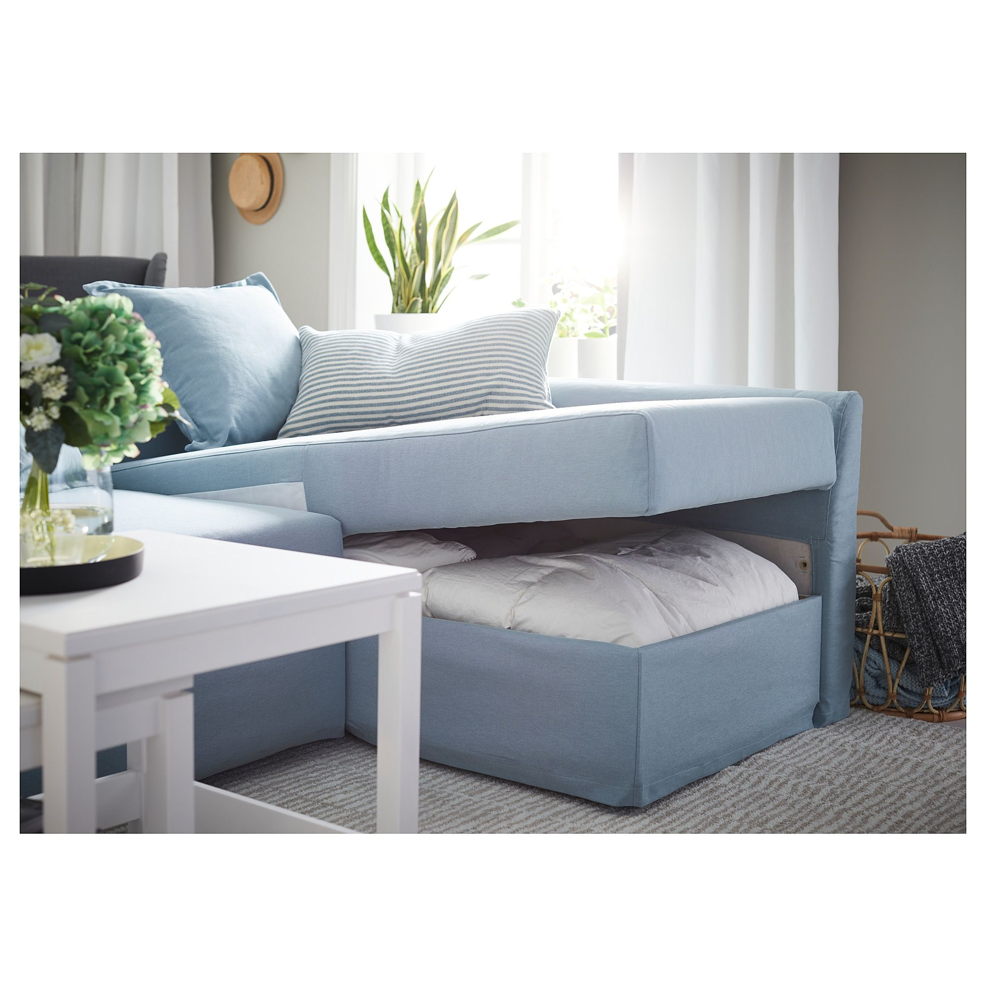 IKEA - HOLMSUND Corner sofa-bed Orrsta light blue in 2019 ...