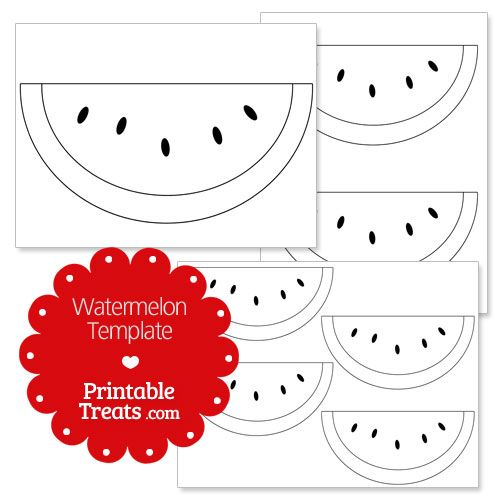 printable watermelon template kids art pinterest watermelon
