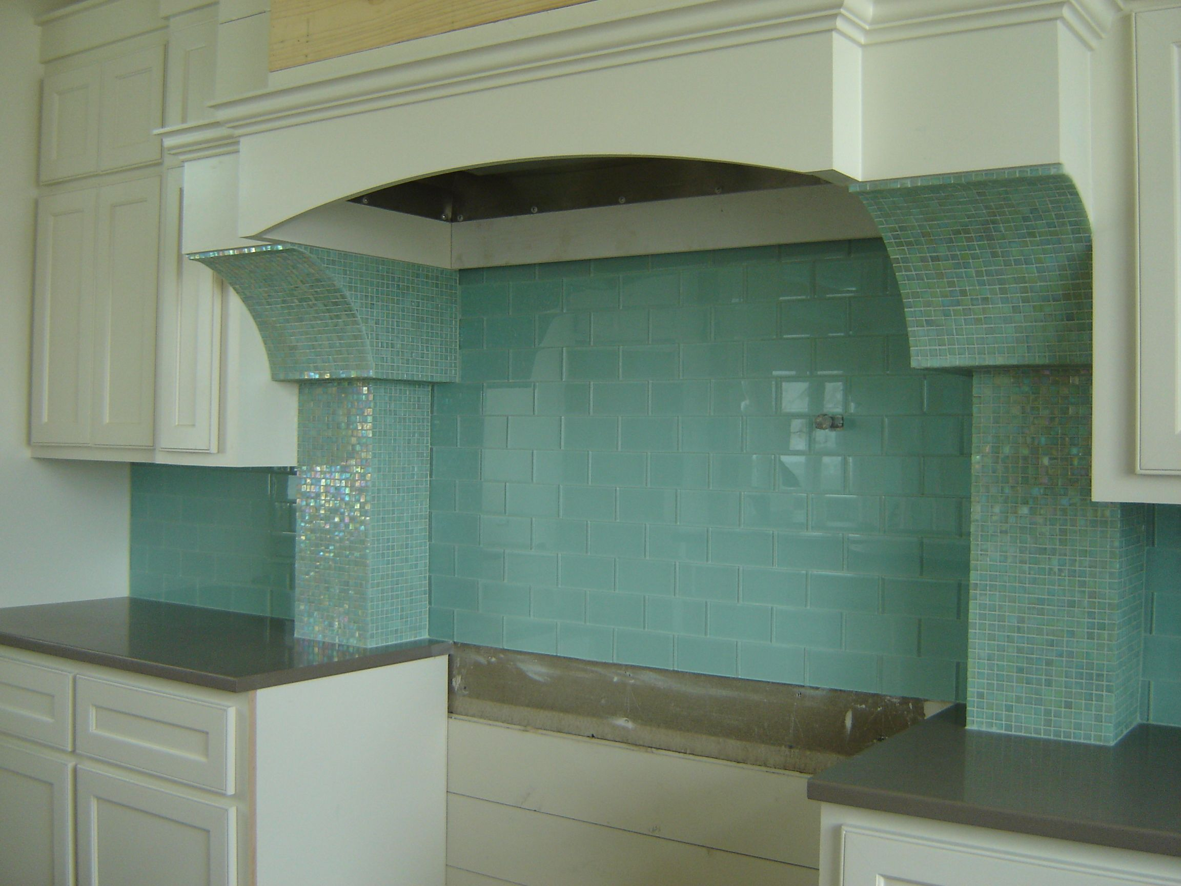 Surf Glass Subway Tile | Subway tile backsplash, Subway tiles and ...