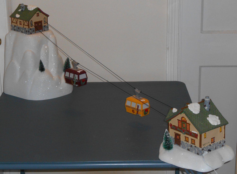 Department Dept 56 Village Animated Gondola Ski Lift 56 52511 Works Adapter Ski Lift Christmas Village Holiday Items