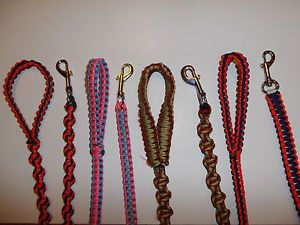 550 paracord Dog Leash Handmade Choose Colors FOR SALE