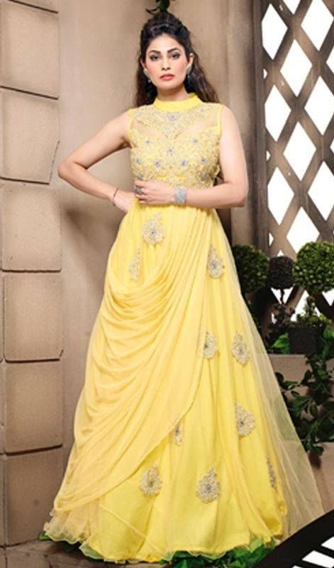 Glorious Look Designer Gown Dresses 2015 | Fancy dress Collection ...