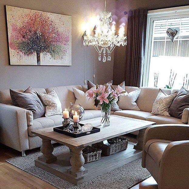 lillies in a gray living room home decor home decor inspire me home decor decor. Black Bedroom Furniture Sets. Home Design Ideas