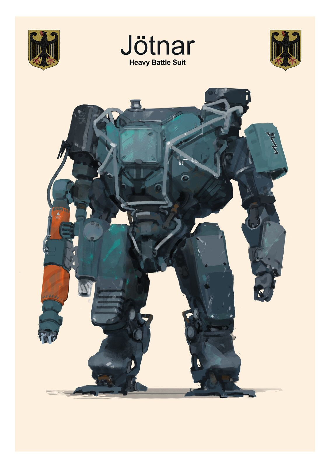 Aedel Fakhrie Robots Drawing Character Sketches Digital Art