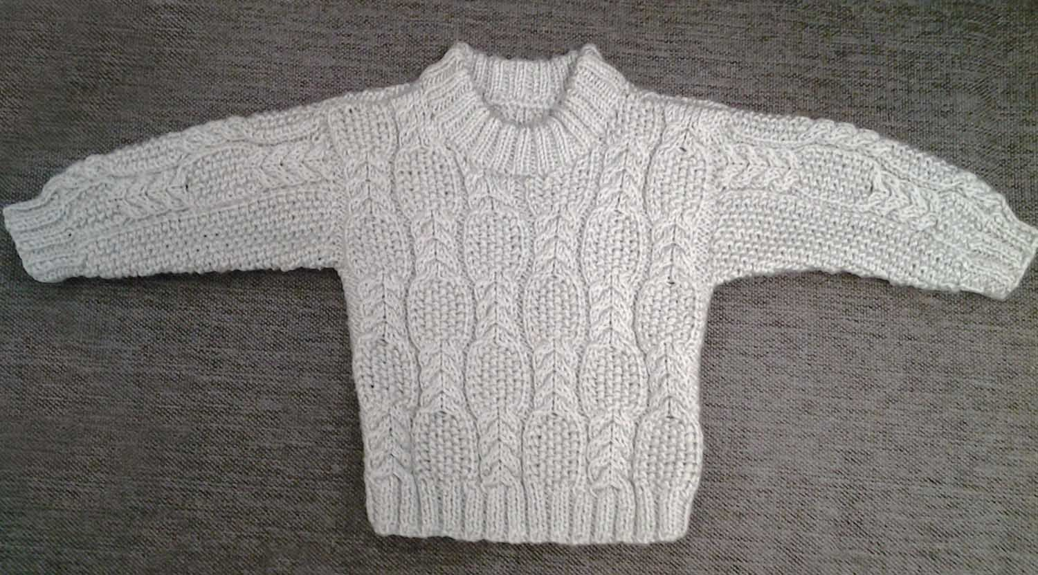 Cable and Seed Stitch Baby Sweater | Strik | Pinterest | Ropa para ...