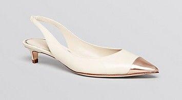 3fe91720ce4 Elie Tahari Pointed Toe Slingback Pumps - Sasha Kitten Heel
