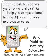 Yield To Maturity Calculator This Free Online Calculator Will