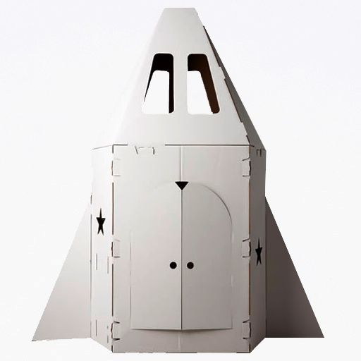 nave espacial en carton