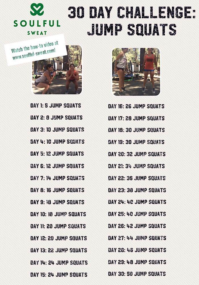 July 30 Day Challenge - JUMP SQUATS! , Soulful Sweat 30 Day Jump Squat Challenge... , July 30 Day C