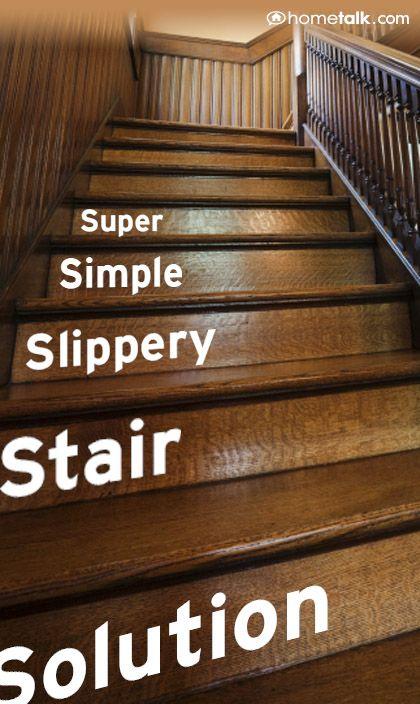 Super Simple Slippery Stair Solution Slippery Stairs Stairs   Slippery Wood Stairs Outdoor   Composite Decking   Non Slip Stair Tread   Porch   Hardwood   Prevent Slips