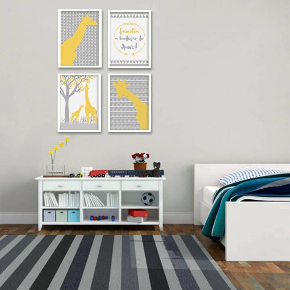 Parede Pronta Com 4 Itens Posters Infantis Da Suh Riediger  ~ Desenho Em Paredes De Quarto E Quarto Bebe Gemeos Casal