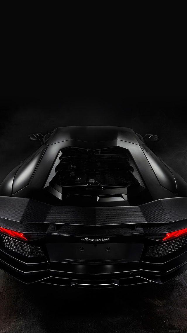 Black Aventador Back Engine View iPhone 5