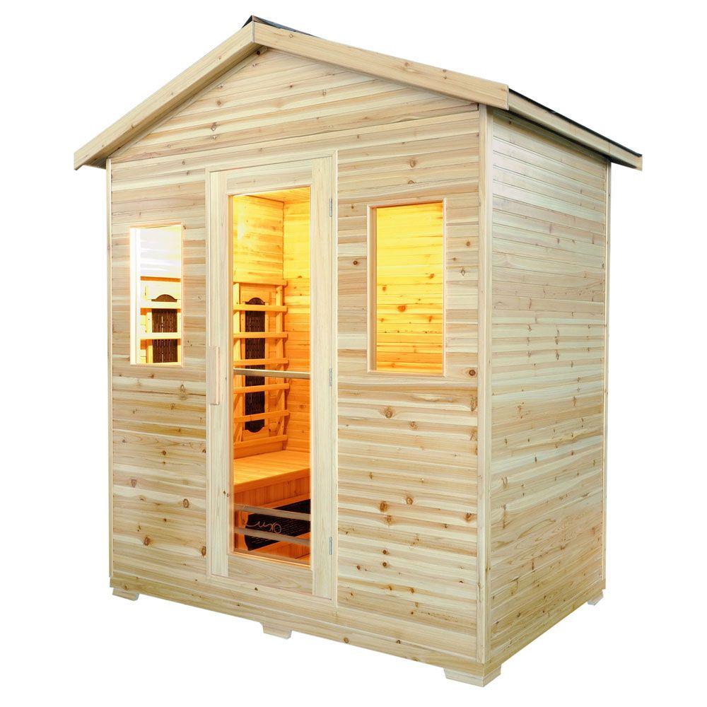 Buy Luxo Suvi 4 Person Outdoor Infrared Sauna Online ... on Luxo Living Outdoor id=94377