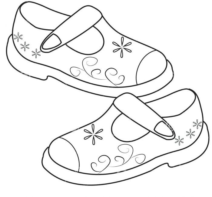 Girls Shoes Coloring Pages Beautiful