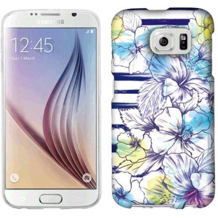 Mundaze Stripes And Flowers Phone Case Cover for Samsung Galaxy S6 - Walmart.com