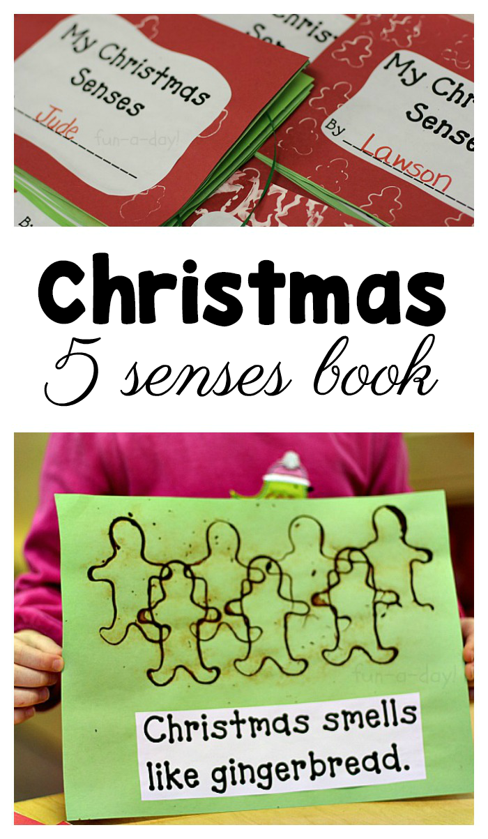photo about My Five Senses Book Free Printable titled My Xmas 5 Senses E book for Preschool and Kindergarten