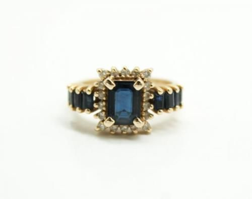 20c-Elegant-1-5ct-Sapphire-Diamond-14K-Gold-Ladies-Ring