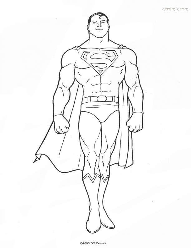 Superman Boyama Google Da Ara Marvel Resim