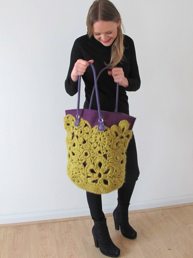 Crochet Lace Bag (UK) - Erika Knight | Summer Knitting