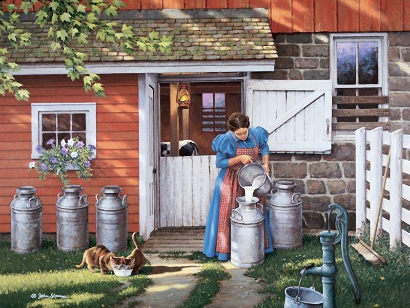 жизнь в деревне как на картинке