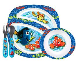 Finding Nemo (microwave style) 4-piece toddler plate set  sc 1 st  Pinterest & Finding Nemo (microwave style) 4-piece toddler plate set | Picky ...