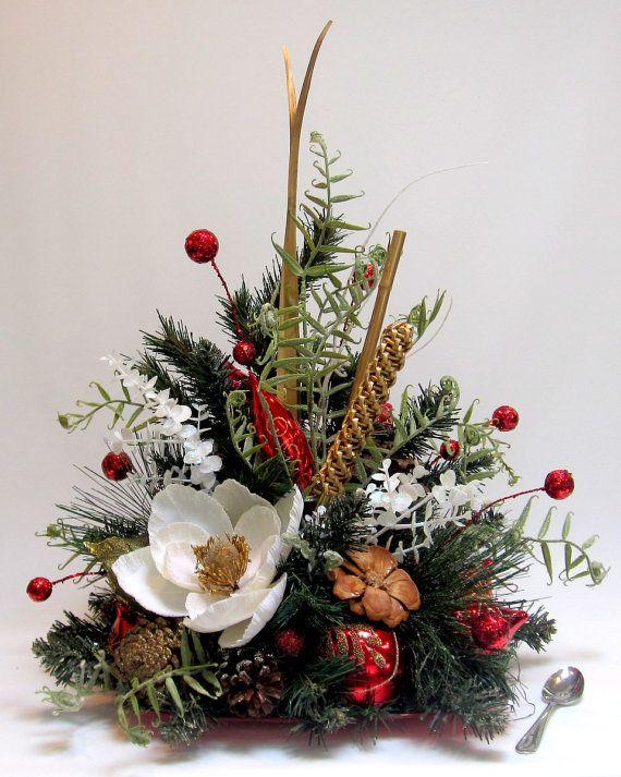 Contemporary Style Christmas Decor Holiday Table Decoration Handmade Ornament D Christmas Flower Arrangements Christmas Floral Arrangements Christmas Flowers