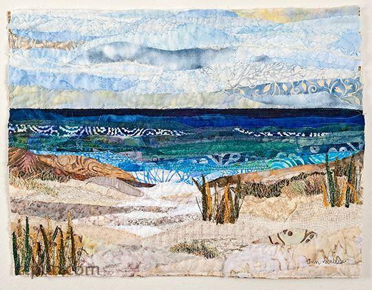 Landscape Art Quilts Step By Step Landscape Art Quilts Landscape Quilts Seascape Quilts