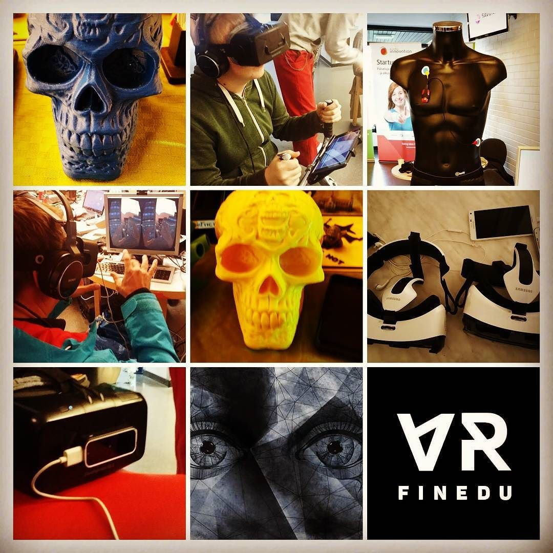 An awesome Virtual Reality pic! Last weekend was full of action with #fineduvr team and @muuramenlukio student VR team #virtualreality #oculusrift #3dprinter by fineduvr check us out: http://bit.ly/1KyLetq