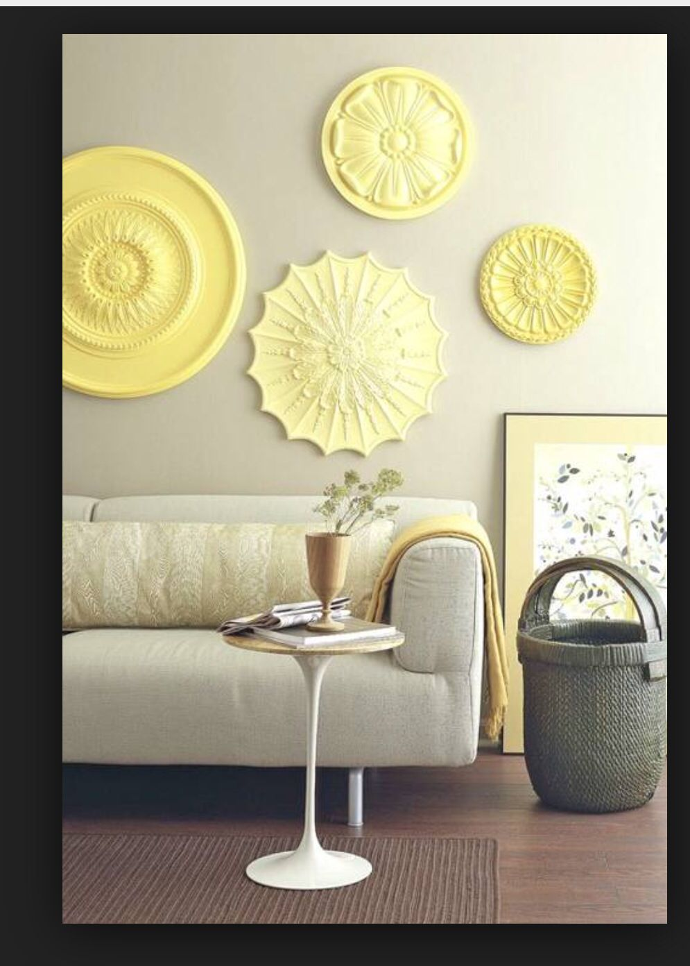 Famous Ceiling Rosettes Wall Decor Collection - Wall Art Ideas ...