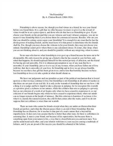 Write Essay About Friendship Performance Professional True On Friend