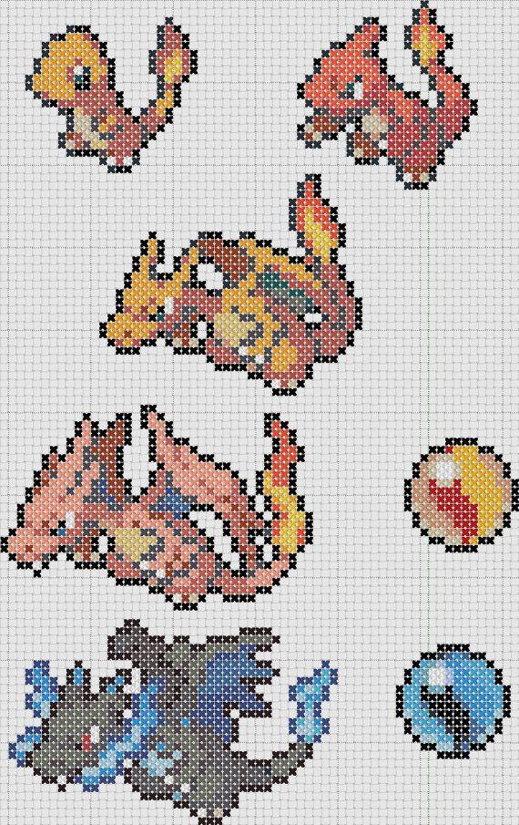 Pokemon 004 Charmander 005 Charmeleon 006 Charizard Mega