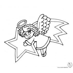 Disegno Di Stella Cometa E Angioletto Da Colorare Angels N Fairies