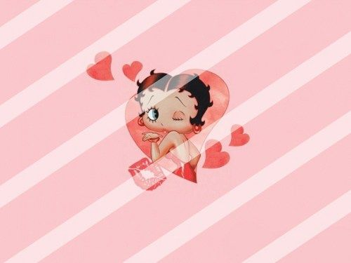 Betty Boop Edible Cake Topper Frosting 1/4 Sheet Image #88