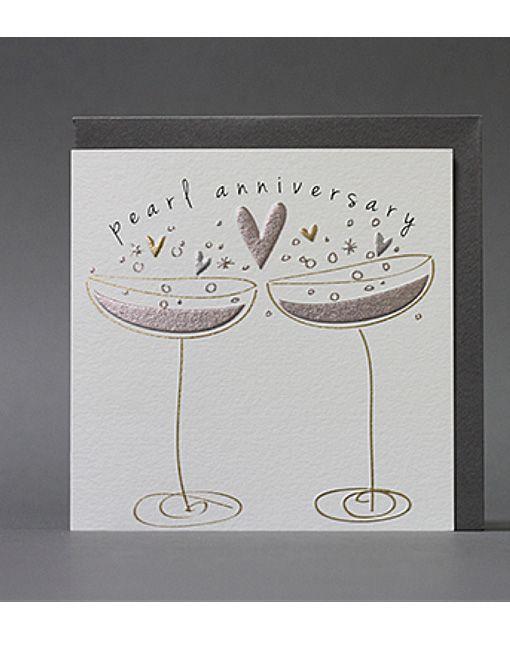 Pearl Wedding Anniversary Card Cardcrushgreetings Product