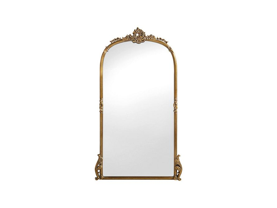 Amelie Wooden Arched Floor Mirror In Gold Hue Arhaus Furniture Floor Mirror Mirror Unique Mirrors