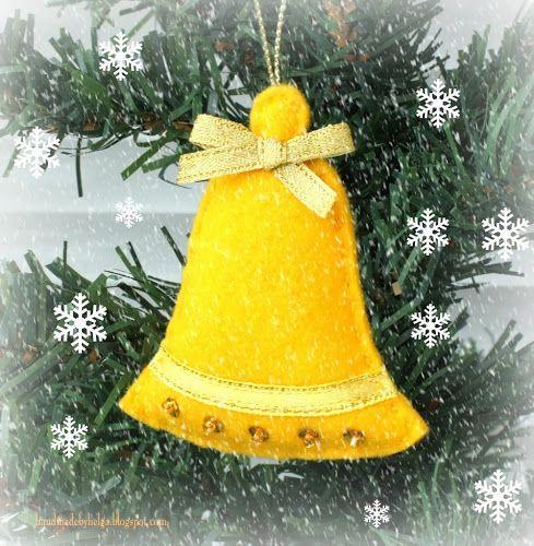 Hechos a mano de Helga: Felt Adornos para árboles de Navidad