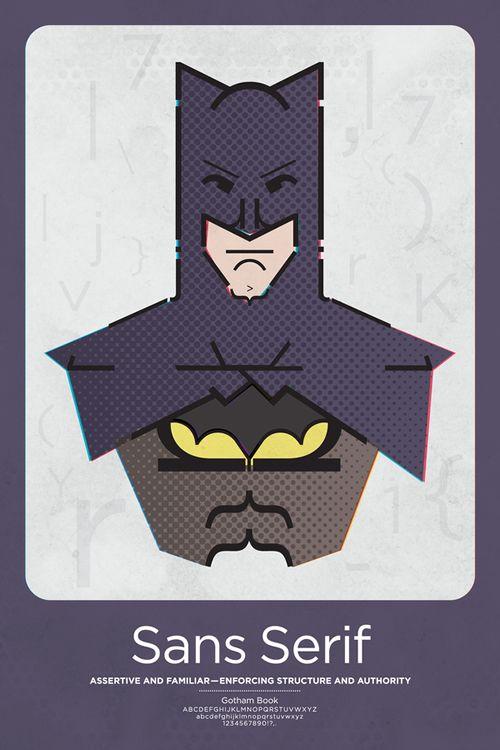 Super-Heróis em Classificações Tipográficas • Arte Final - O ingrediente essencial para a criatividade.