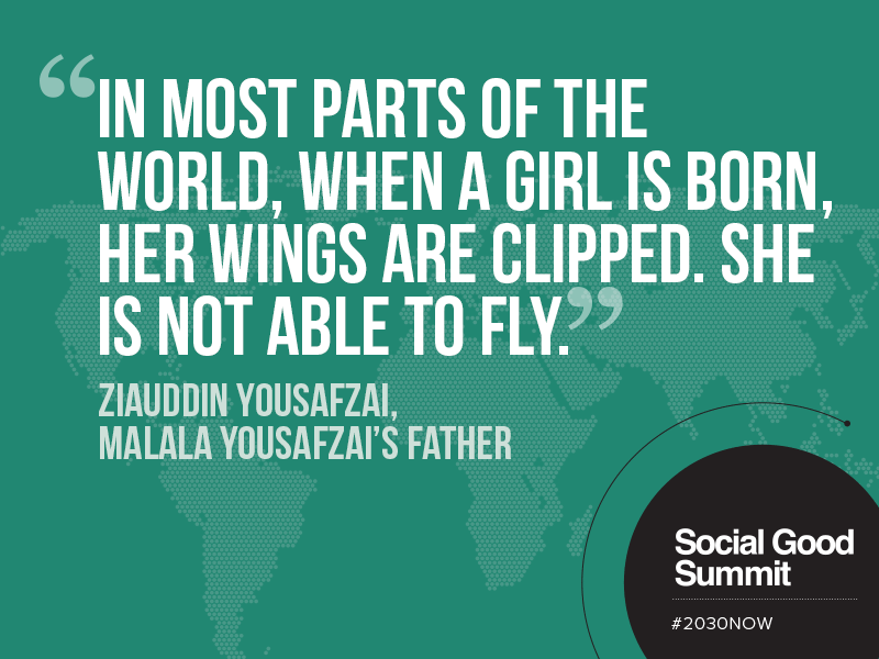 Ziauddin Yousafzai / Quotes From The 2013 Social Good