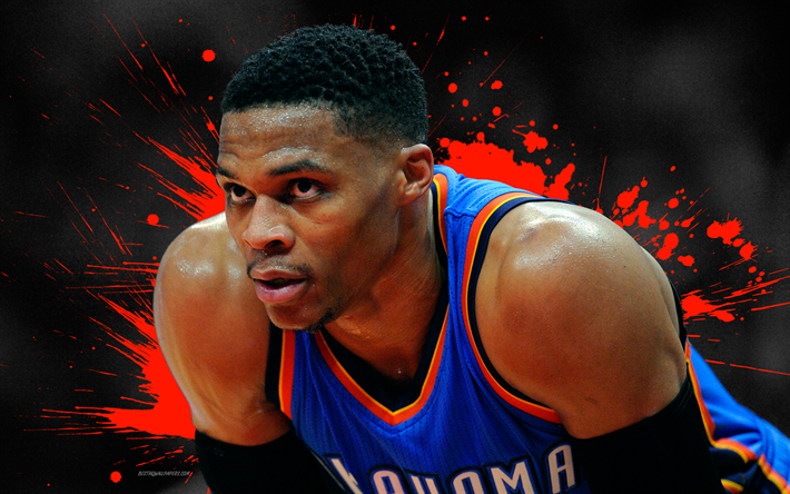 Download Wallpapers Russell Westbrook 4k Basketball Players Nba Oklahoma City Thunder Grunge Basketball Art Besthqwallpapers Com Oklahoma City Thunder Oklahoma City Russell Westbrook