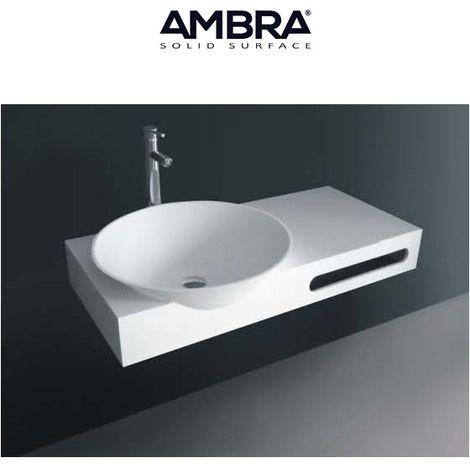 plan suspendu 100 cm avec vasque intgre en solid surface lola - 100 Cm Plan Vasque